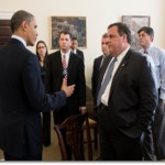 President Barack Obama with New Jersey Governor Chris Christie at the White House, December 2012 (Photo credit: Pete Souza)