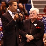 Barack Obama and Ted Kennedy (Photo credit: Sage Ross)