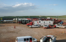 Halliburton preparing to frack the Bakken (Photo credit: Joshua Doubek)