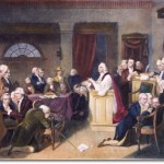 Rev Jacob Duché leading in prayer at the first Continental Congress, 1774