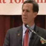 Santorum: Obama Appeases Evil