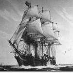 Painting of the SS Savannah, 1819, by Hunter Wood