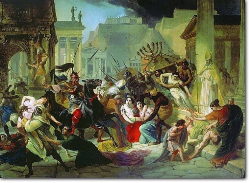 Sacking of Rome by Genseric in 455