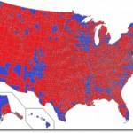 2012 presidential election by county (Source: Wikimedia Commons)