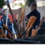 Guns from an LAPD buyback (Photo credit: Zev Yaroslavsky)