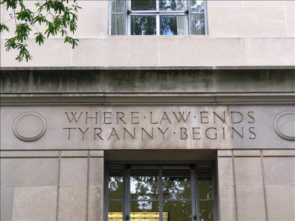 Inscription on the U.S. Dept of Justice Building