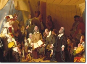 Embarkation of the Pilgrims, painting which hangs in the U.S. Capitol Rotunda
