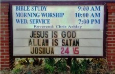 Church Sign Declares:  'Jesus Is God; Allah is Satan'