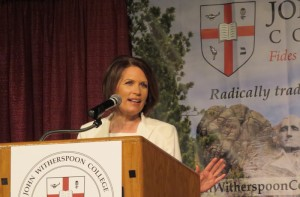 Michele Bachmann speaking at the Fourth Annual John Witherspoon College ScholarShare.