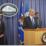 US Attorney General Eric Holder at the podium (Photo credit: Lonnie Tague)