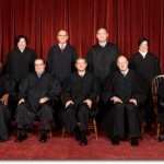 The United States Supreme Court, the highest court in the United States, in 2010. Top row (left to right): Associate Justice Sonia Sotomayor, Associate Justice Stephen G. Breyer, Associate Justice Samuel A. Alito, and Associate Justice Elena Kagan. Bottom row (left to right): Associate Justice Clarence Thomas, Associate Justice Antonin Scalia, Chief Justice John G. Roberts, Associate Justice Anthony Kennedy, and Associate Justice Ruth Bader Ginsburg. Photo credit: Steve Petteway