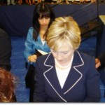 Hillary Clinton, followed by Huma Abedin. Green Valley High School - Henderson, NV (Photo credit: Julie Vazquez )