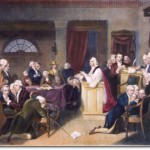 Painting of the prayer led by Rev. Jacob Duché at the first congress