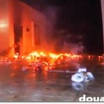 US consulate in Benghazi on fire via Russian TV and doualia.com