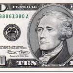 Alexander Hamilton on the $10 bill