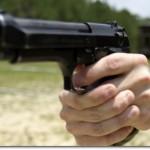 Beretta 9mm ({Photo credit: Lance Cpl. Richard Blumenstein)