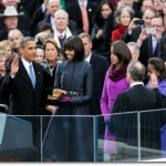 Barack Obama takes the oath of office, Jan. 21, 2013 (Photo credit: Sonya N. Hebert)