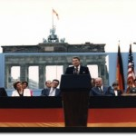 "President Reagan, calling on the Soviet leader to ""tear down this wall,"" June 12, 1987"