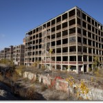 Western part of the abandoned Packard Automotive Plant in Detroit, Michigan. (Photo credit: Albert Duce)