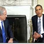 Barack Obama with Benjamin Netanyahu in 2009