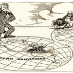 Newspaper cartoon from 1912 about the Monroe Doctrine