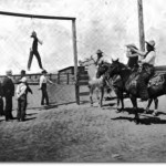 Horse thief hanging, 1900