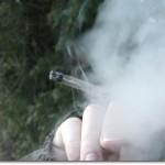 Smoking a marijuana joint (Source: Wikimedia Commons)