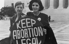 orma McCorvey (Jane Roe) and her lawyer Gloria Allred on the steps of the Supreme Court, 1989 (Photo credit: Lorie Shaull)